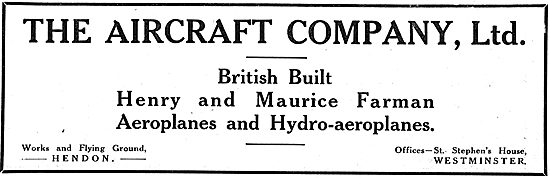 The Aircraft Company For British Built Henry & Maurice Farman