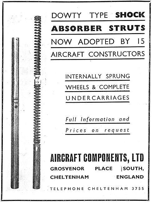 Aircraft Components Co - Dowty Type Shock Absorber Struts