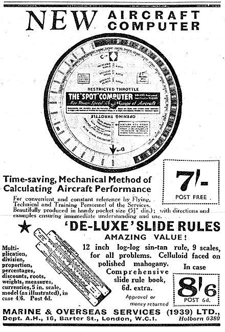 Aircraft Computers & Calculators. Spot Circular Slide Rule