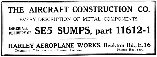 The Aircraft Construction Company 1917 Advert
