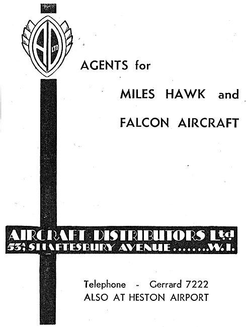 Aircraft Distributors Ltd, Heston - Agents For Miles Aircraft