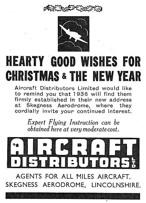 Aircraft Distributors Ltd : Skegness Aerodrome: Miles