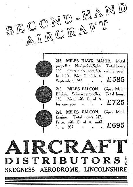 Aircraft Distributors Ltd Skegness Aerodrome - Aircraft Sales