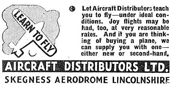Aircraft Distributors Ltd - Flying Training At Skegness