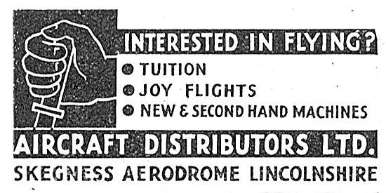 Aircraft Distributors Ltd Skegness - Training, Joy Rides & Sales