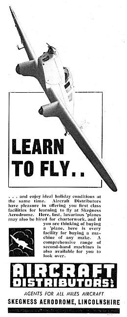 Aircraft Distributors Ltd - Skegness. Flying School Training