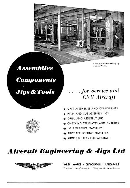 Aircraft Engineering & Jigs. Assemblies & Components