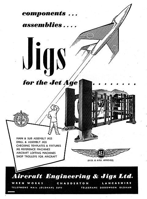 Aircraft Engineering & Jigs. Aircraft Lofting Machines & Assy Jig