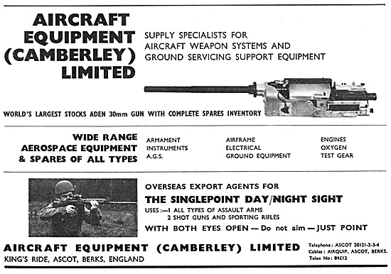 Aircraft Equipment. Aircraft Weapons Systems 1970