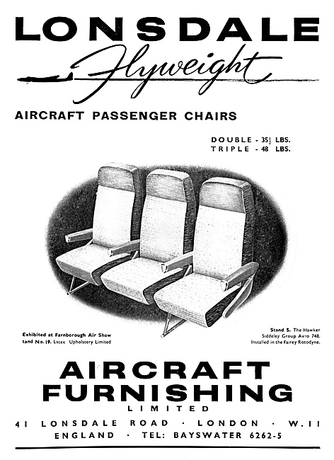 Aircraft Furnishing Lonsdale Aircraft Passenger Seats