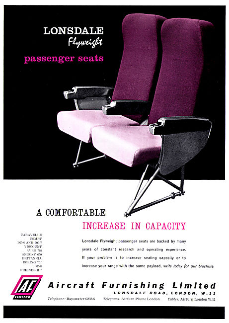 Aircraft Furnishing Ltd. Lonsdale Flyweight Passenger Seating