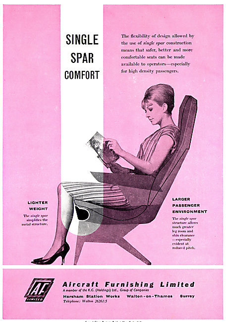 Aircraft Furnishing - Single Spar Passenger Seating