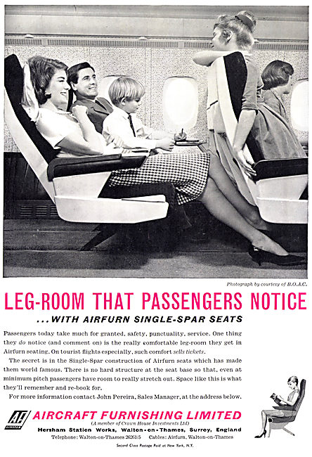 Aircraft Furnishing - AIRFURN Aircraft Seating 1965