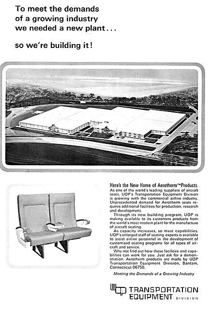 Aircraft Furnishing - Aerotherm Aircraft Passenger Seating
