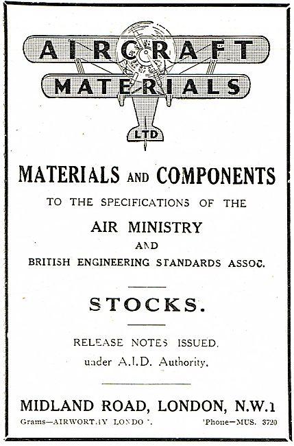 Aircraft Materials Ltd - Air Ministry Spec Materials & Components