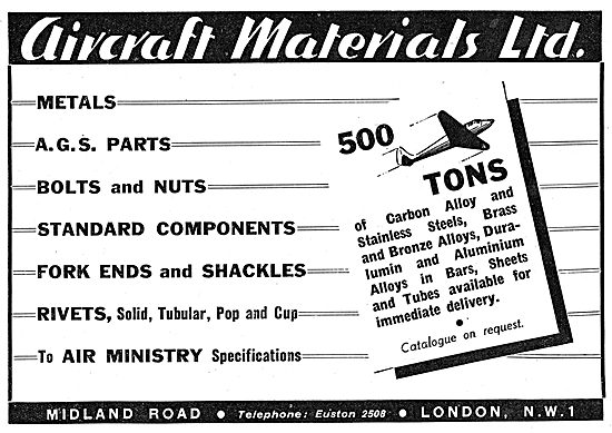 Aircraft Materials Ltd - Aircraft Component Factors