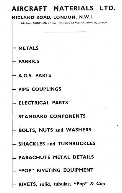 Aircraft Materials Ltd. Aircraft Parts Stockists