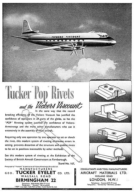 Aircraft Materials AGS Parts. Tucker Pop Rivets
