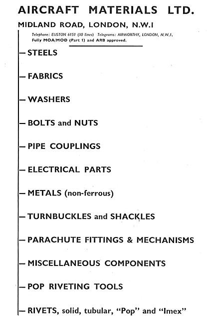 Aircraft Materials. Aircraft Spares Stockists