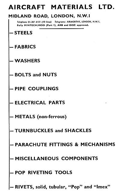 Aircraft Materials. Aircraft Parts Stockists & Distributors