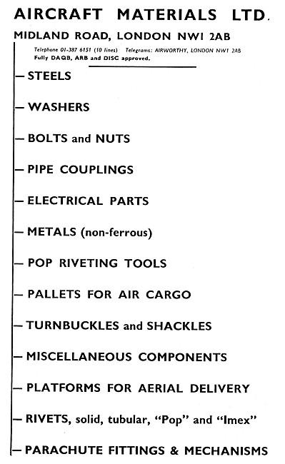 Aircraft Materials. Aircraft Parts Stockists