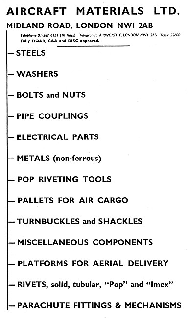Aircraft Materials. Aircraft Parts Stockists & Disatributors
