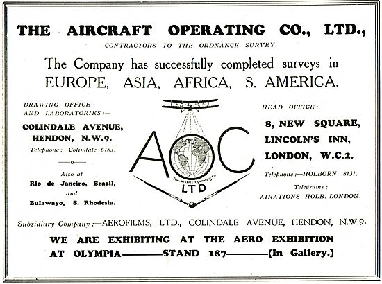 Aircraft Operating Company Contractors To Ordnance Survey