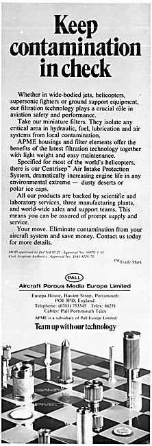 Aircraft Porous Media CENTRISEP Filters