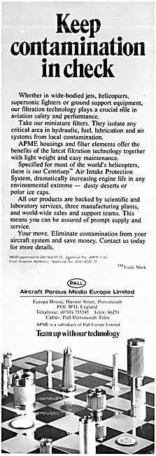 Aircraft Porous Media Filters