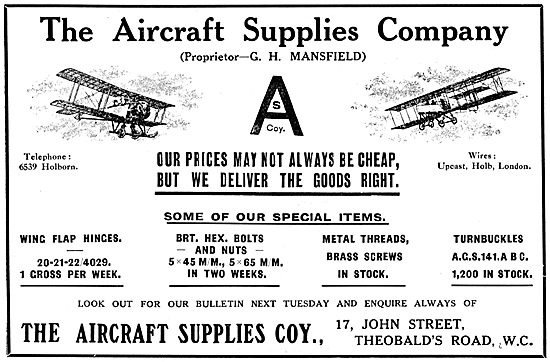 The Aircraft Supplies Company For AGS Parts