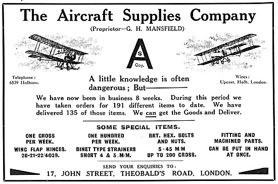 Aircraft Supplies Company. Aircraft Parts Suppliers & Stockists