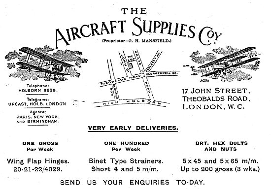 The Aircraft Supplies Company Early Deliveries On AGS Parts