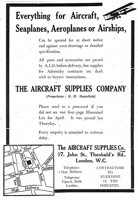 The Aircraft Supplies Company For AID Approved Aircraft Parts