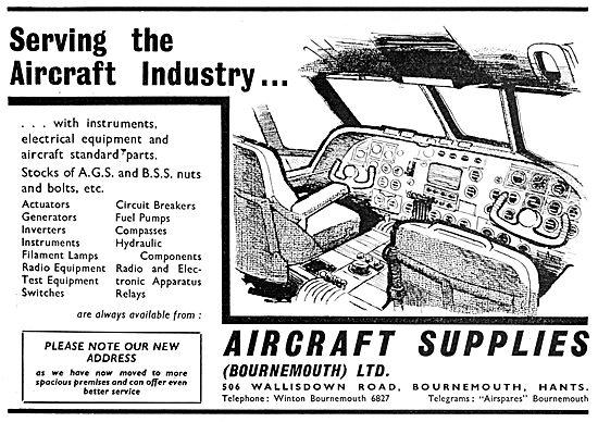 Aircraft Supplies (Bournemouth) Aircraft Parts Stockists