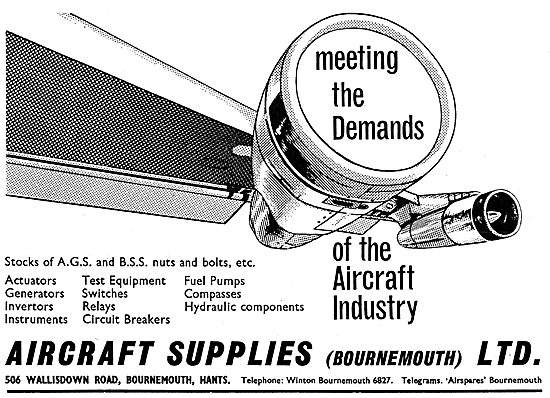 The Aircraft Supplies Company (Bournemouth) Parts Stockists