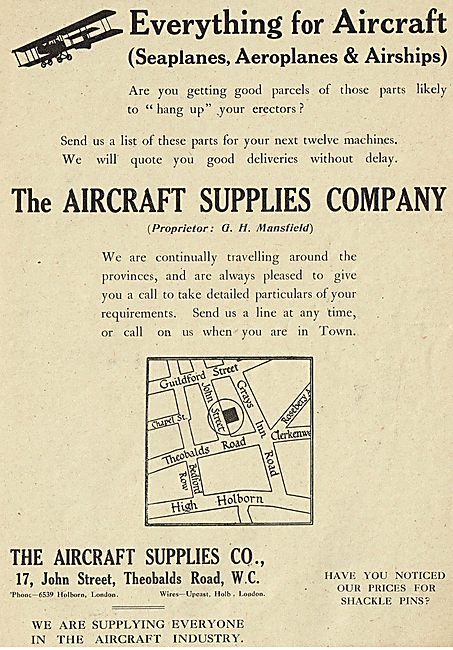 The Aircraft Supplies Company For All Aircraft parts