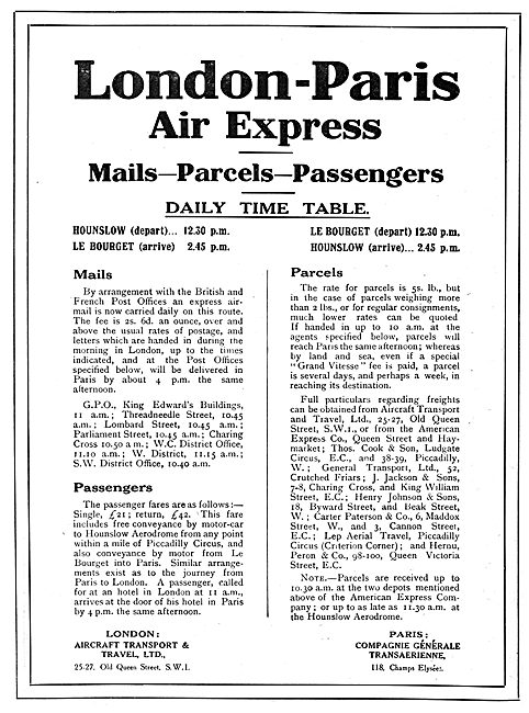Aircraft Transport & Travel
