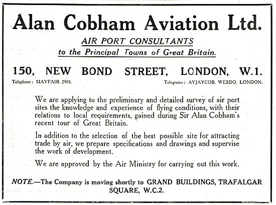 Alan Cobham Aviation Ltd - Air Port Consultants