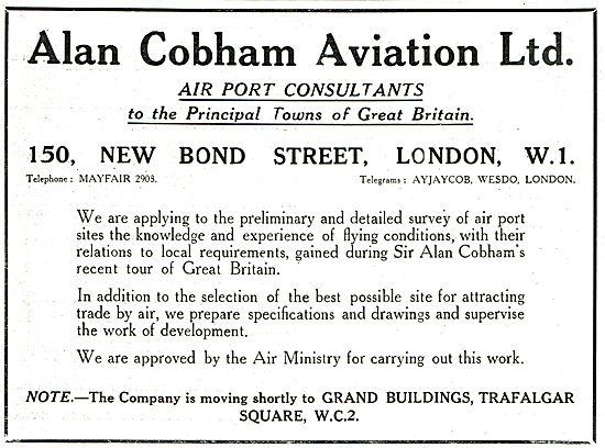 Alan Cobham Aviation Ltd - Air Port Consultants