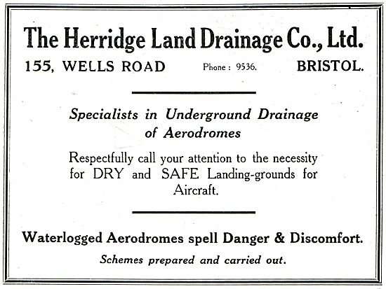 The Herridge Land Drainage Co - Aerodrome Drainage