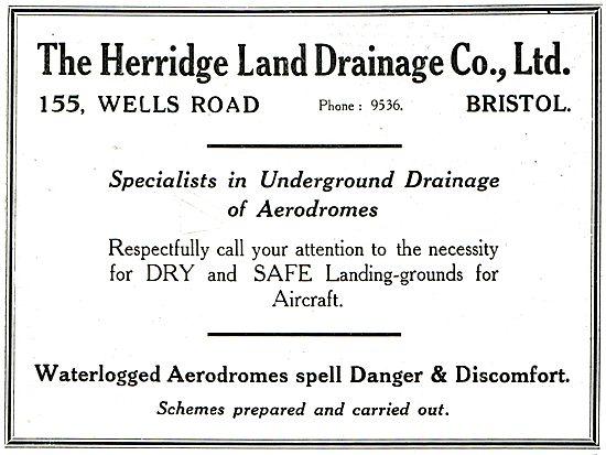 The Herridge Land Drainage Co - Aerodrome Drainage