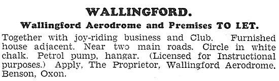 Wallingford Aerodrome, Benson,Oxfordshire. 1931