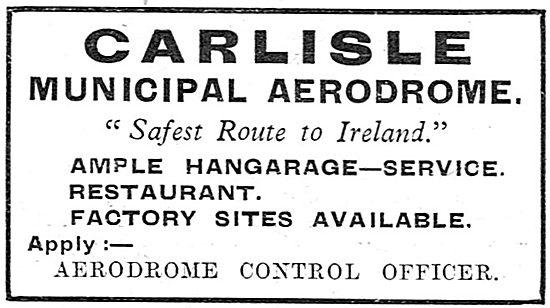 Carlisle Municipal Aerodrome - Hangarage - Service - Restaurant