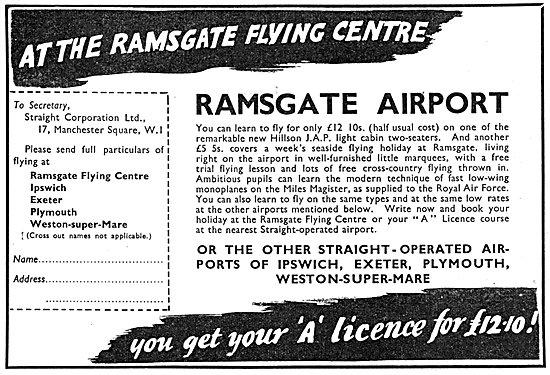 Straight Aviation Ramsgate Flying Centre 1938