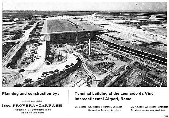 Rome Leonardo Da Vinci. Ingg Provera-Carrassi Construction