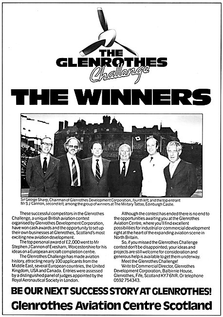 Glenrothes Challenge 1983 Winners