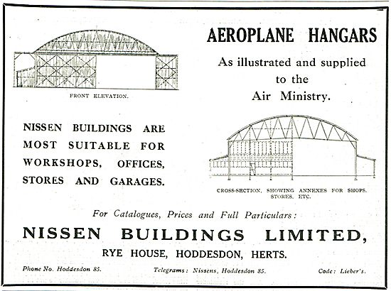 Nissen Buildings - Hangars, Workshops, Stores & Garages