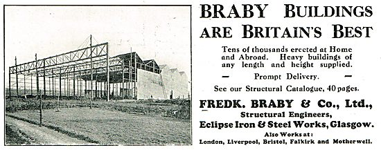 Frek Braby & Co Ltd Glasgow. Airfield Buildings & Steelwork