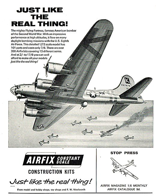 Airfix 1/72 Scale B17 Flying Fortress.