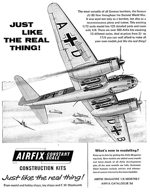 Airfix 1/72 Scale JU88: Just Like The Real Thing!